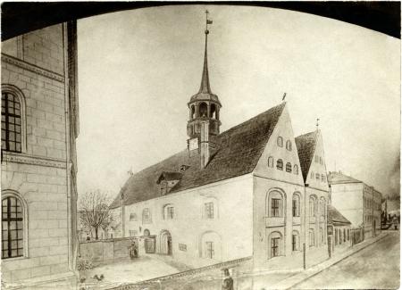 Kościół św. Gertrudy na Łasztowni, autor anonimowy, Rysunek, ok. 1860 r. MNS/A.Foto/14749