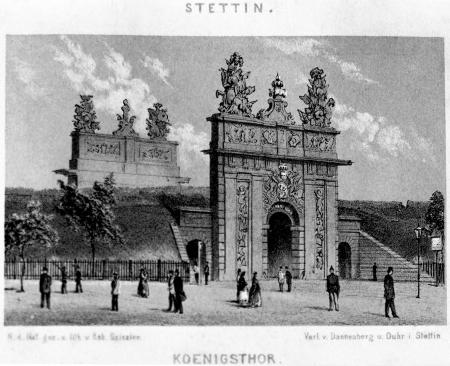 Brama Królewska, rysował i litografował Robert Geißler 1869. MNS/A.Foto/5362 A