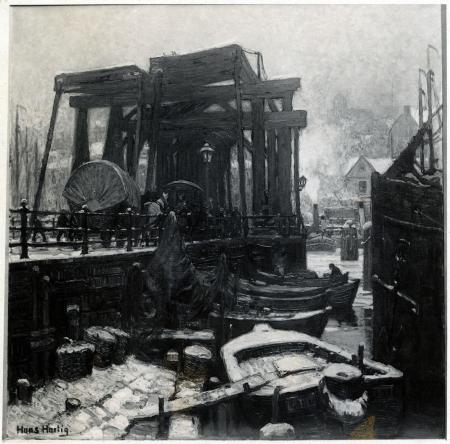 Stary Most Kłodny. Hans Hartig, 1913 r., ol/pł. MNS/A.Foto/16135