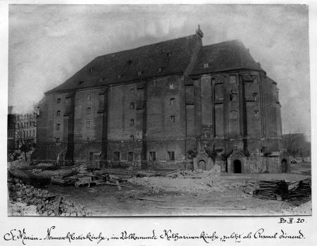 Kościół Mariacki klasztoru żeńskiego. Fotografie z 1897 r. i z czasu przed rozbiórką. MNS/A.Foto/5253