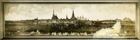 Ogólny widok Szczecina pod koniec XVI wieku, obraz w giełdzie. MNS/A.Foto/5461